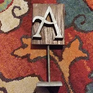 Metal and wood a from Anthropologie
